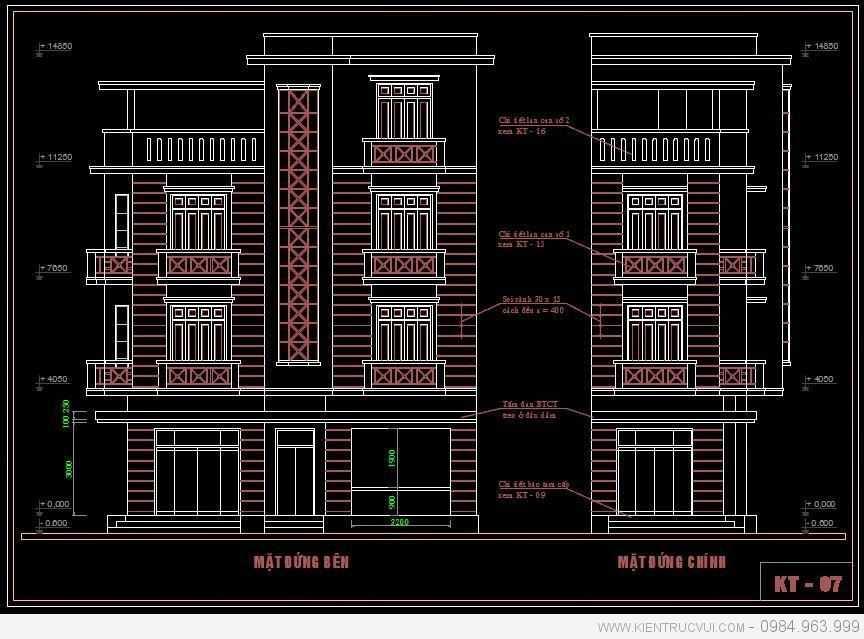 Thiết kế nhà mặt phố 4 tầng để ở và cho thuê tại Bắc Giang