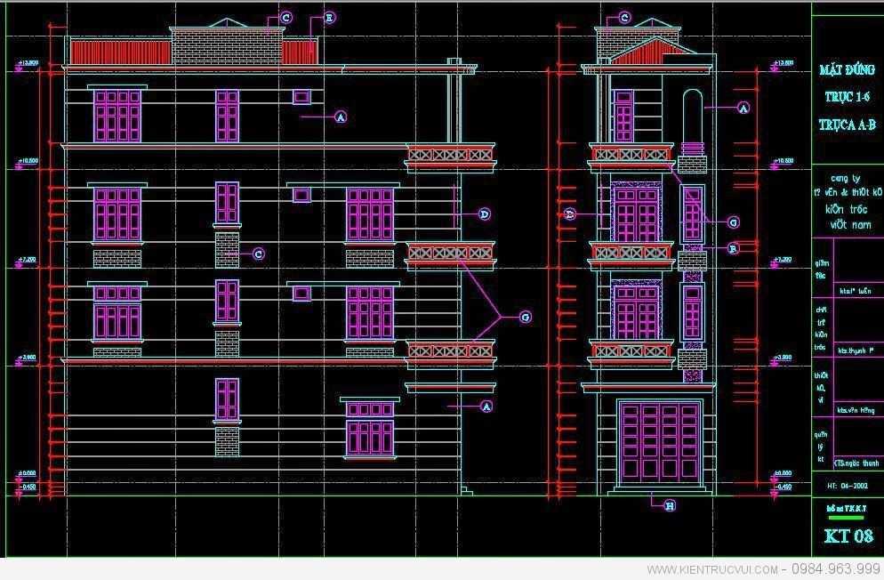 Thiết kế nhà ống 4 tầng tại Bắc Giang