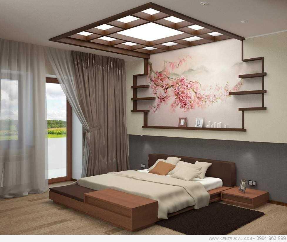 Các phòng ngủ phong cách Nhật Bản bao giờ cũng hướng tới lối thiết kế tối giản, sạch sẽ